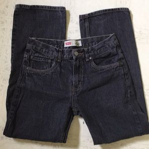 Levi's 550 relaxed fit black jeans
